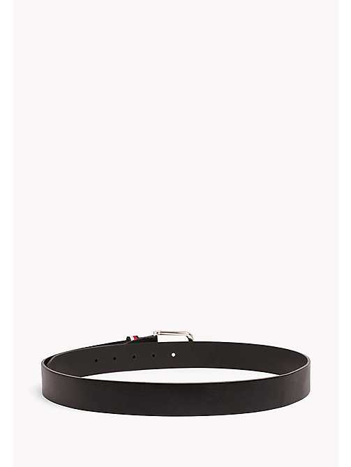Signature Loop Leather Belt - BLACK - TOMMY HILFIGER Bags & Accessories - detail image 1