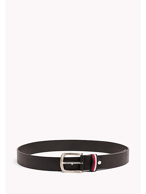 TOMMY HILFIGER Signature Loop Leather Belt - BLACK -  NEW IN - main image