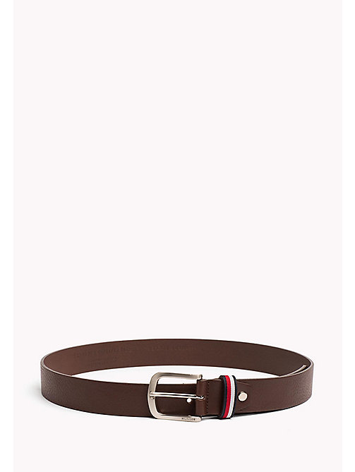 TOMMY HILFIGER Signature Loop Leather Belt - TESTI DI MORO - TOMMY HILFIGER Bags & Accessories - main image
