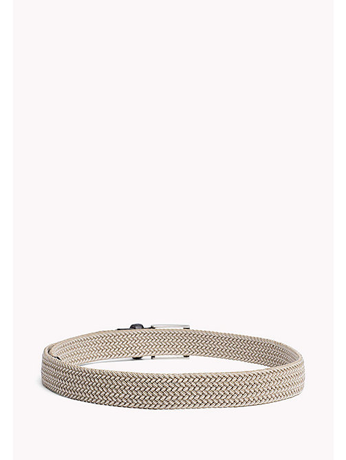 TOMMY HILFIGER Everyday Webbing Belt - DARK PUMICE- IVORY - TOMMY HILFIGER Bags & Accessories - detail image 1
