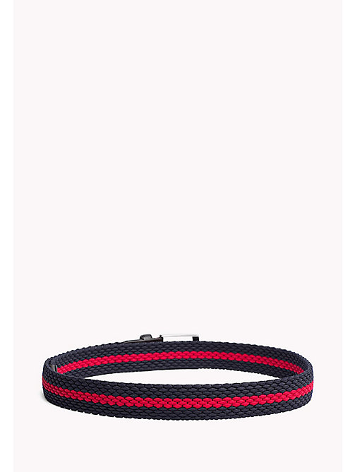 TOMMY HILFIGER Contrast Stripe Woven Belt - TOMMY NAVY-TOMMY RED - TOMMY HILFIGER Belts - detail image 1