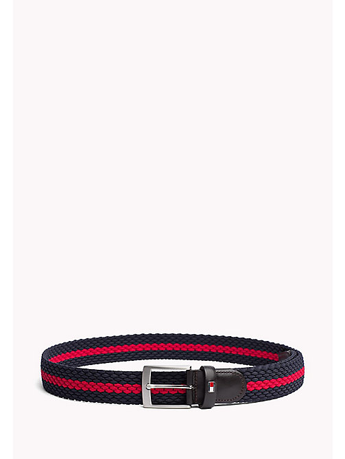 TOMMY HILFIGER Contrast Stripe Woven Belt - TOMMY NAVY-TOMMY RED - TOMMY HILFIGER Belts - main image