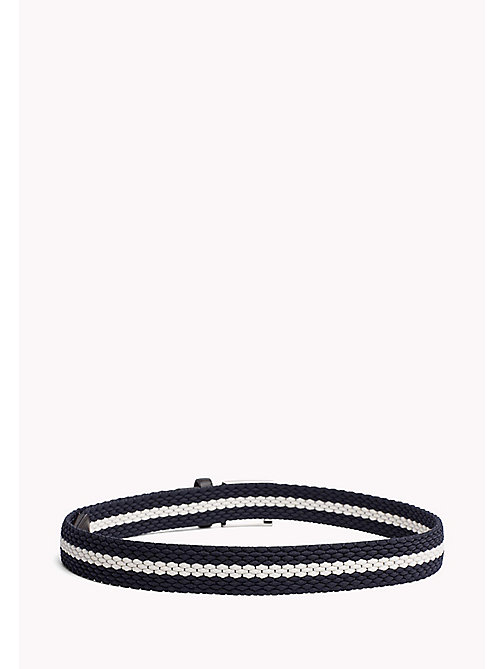 TOMMY HILFIGER Contrast Stripe Woven Belt - TOMMY NAVY-IVORY -  Bags & Accessories - detail image 1