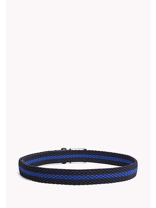TOMMY HILFIGER Contrast Stripe Woven Belt - TOMMY NAVY-COBALT BLUE - TOMMY HILFIGER Bags & Accessories - detail image 1