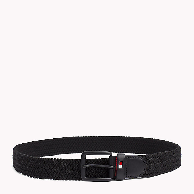 TOMMY HILFIGER Braided Belt - TOMMY NAVY - TOMMY HILFIGER Men - main image
