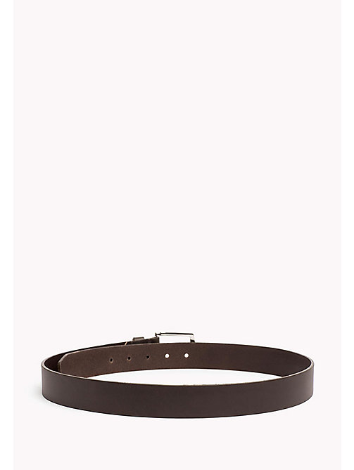TOMMY HILFIGER New Denton Leather Belt - DARK GREY -  Belts - detail image 1