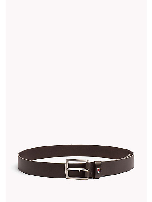 TOMMY HILFIGER New Denton Leather Belt - DARK GREY -  Belts - main image