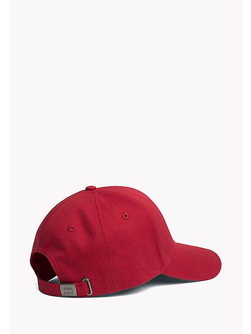 TOMMY HILFIGER Cotton Twill Baseball Cap - HAUTE RED - TOMMY HILFIGER Hats - detail image 1