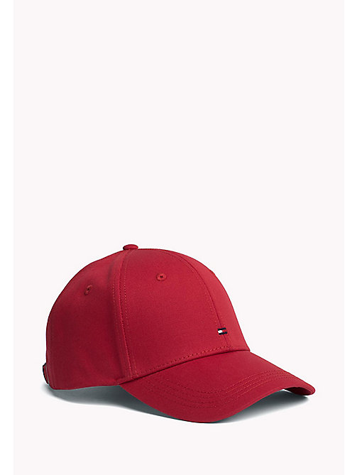TOMMY HILFIGER Cotton Twill Baseball Cap - HAUTE RED - TOMMY HILFIGER Mützen - main image