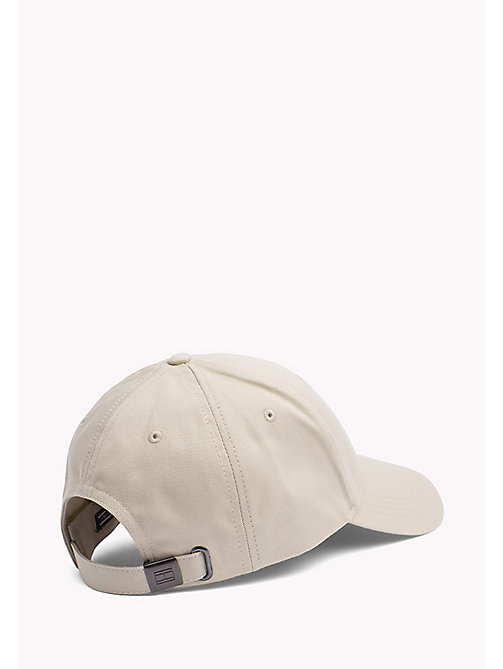 TOMMY HILFIGER Cotton Twill Baseball Cap - SAFARI - TOMMY HILFIGER Bags & Accessories - detail image 1