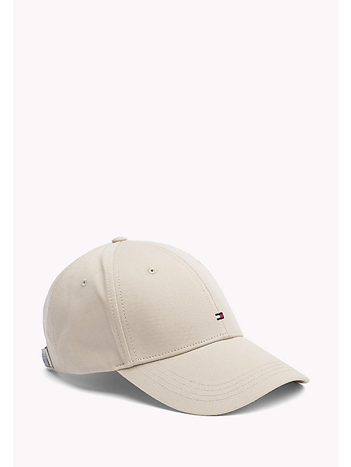 TOMMY HILFIGER Cotton Twill Baseball Cap - SAFARI - TOMMY HILFIGER Bags & Accessories - main image