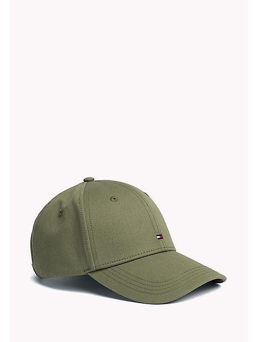 TOMMY HILFIGER Cotton Twill Baseball Cap - FOUR LEAF CLOVER - TOMMY HILFIGER Hats - main image
