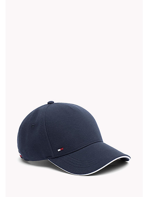 TOMMY HILFIGER Cotton Baseball Cap - TOMMY NAVY - TOMMY HILFIGER Bags & Accessories - main image