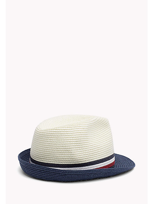 TOMMY HILFIGER Straw Hat with Signature Stripe - BRIGHT WHITE - TOMMY HILFIGER Bags & Accessories - detail image 1