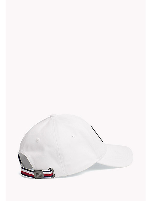 TOMMY HILFIGER Flag Logo Baseball Cap - BRIGHT WHITE - TOMMY HILFIGER Hats - detail image 1