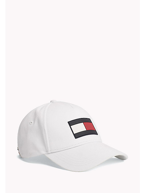 TOMMY HILFIGER Flag Logo Baseball Cap - BRIGHT WHITE - TOMMY HILFIGER Hats - main image