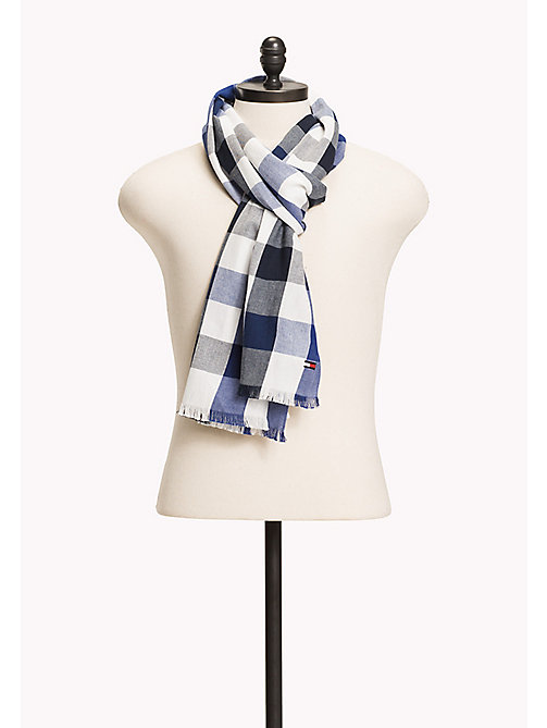 TOMMY HILFIGER Oversized Gingham Scarf - BLUE MIX - TOMMY HILFIGER Bags & Accessories - main image