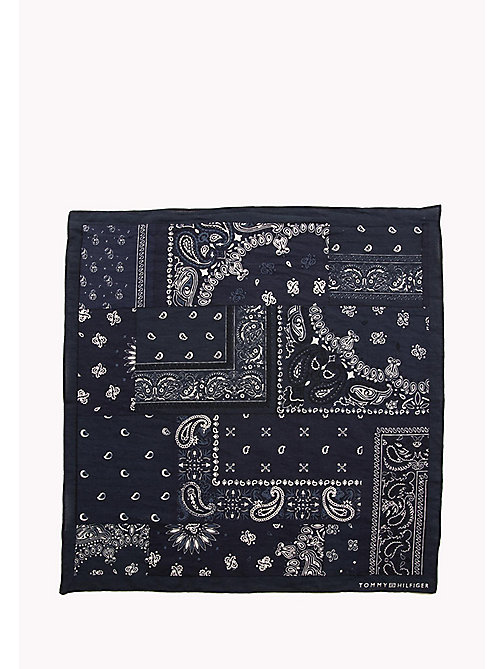 TOMMY HILFIGER Patterned Cotton Bandana - TOMMY NAVY - TOMMY HILFIGER Scarves - detail image 1
