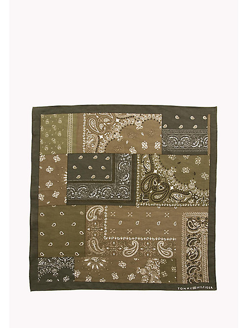 TOMMY HILFIGER Patterned Cotton Bandana - FOUR LEAF CLOVER - TOMMY HILFIGER Scarves - detail image 1