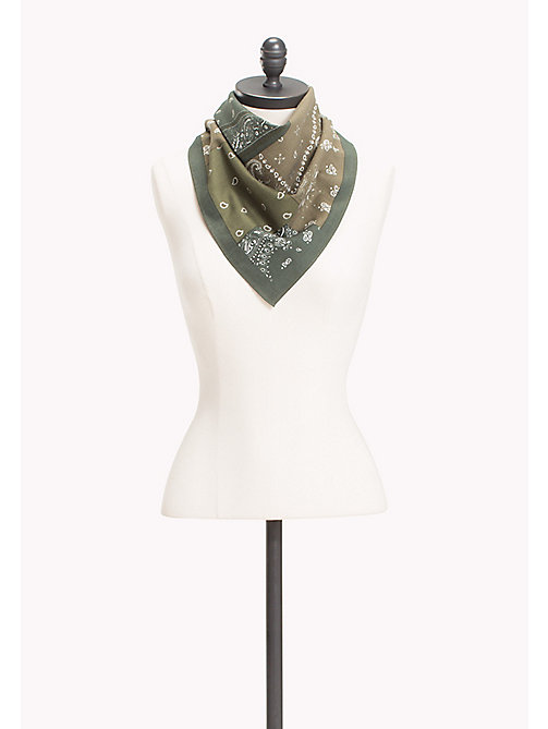 TOMMY HILFIGER Patterned Cotton Bandana - FOUR LEAF CLOVER - TOMMY HILFIGER Scarves - main image