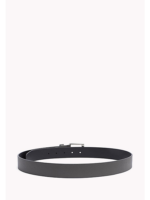TOMMY HILFIGER Grained Leather Belt - GREY - TOMMY HILFIGER Belts - detail image 1