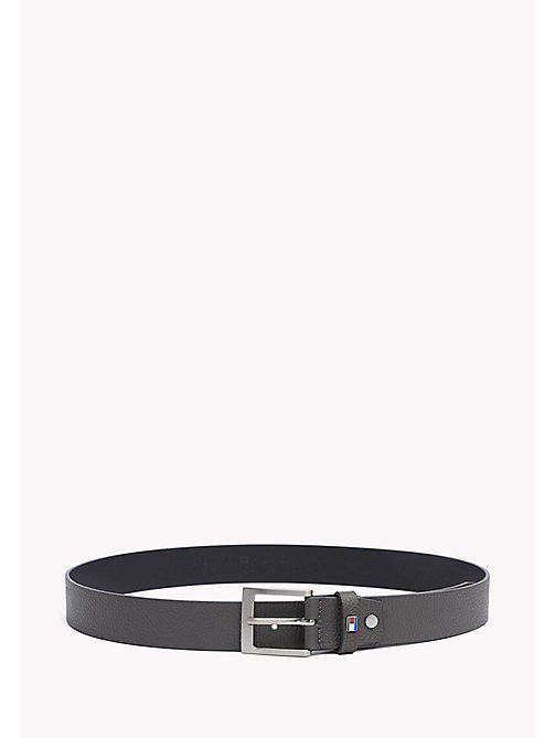TOMMY HILFIGER Grained Leather Belt - GREY - TOMMY HILFIGER Bags & Accessories - main image