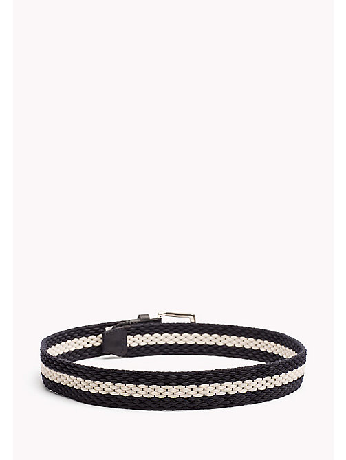 TOMMY HILFIGER Kids' Webbing Stripe Belt - TOMMY NAVY-BRIGHT WHITE - TOMMY HILFIGER Shoes & Accessories - detail image 1