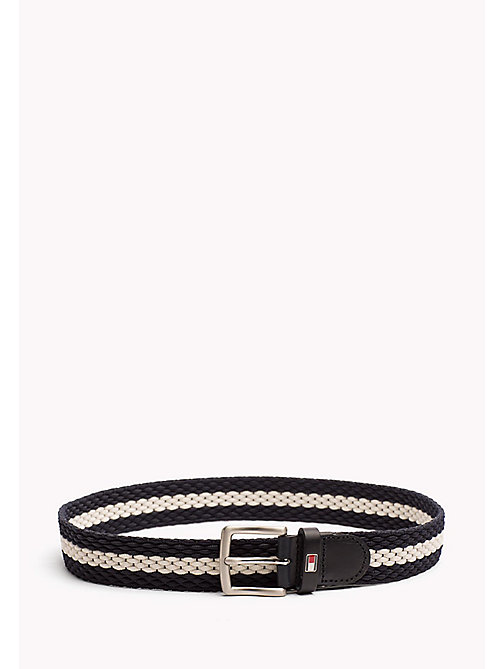 TOMMY HILFIGER Kids' Webbing Stripe Belt - TOMMY NAVY-BRIGHT WHITE - TOMMY HILFIGER Boys - main image