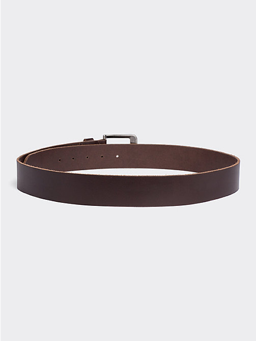 TOMMY JEANS Classic Logo Buckle Leather Belt - TESTA DI MORO - TOMMY JEANS Tommy Jeans Accessories - detail image 1