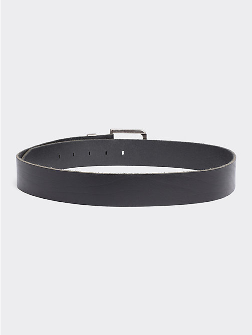 TOMMY JEANS Distressed Look Leather Belt - BLACK - TOMMY JEANS Shoes & Accessories - detail image 1