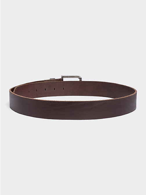 TOMMY JEANS Distressed Look Leather Belt - TESTA DI MORO - TOMMY JEANS Tommy Jeans Shoes & Accessories - detail image 1