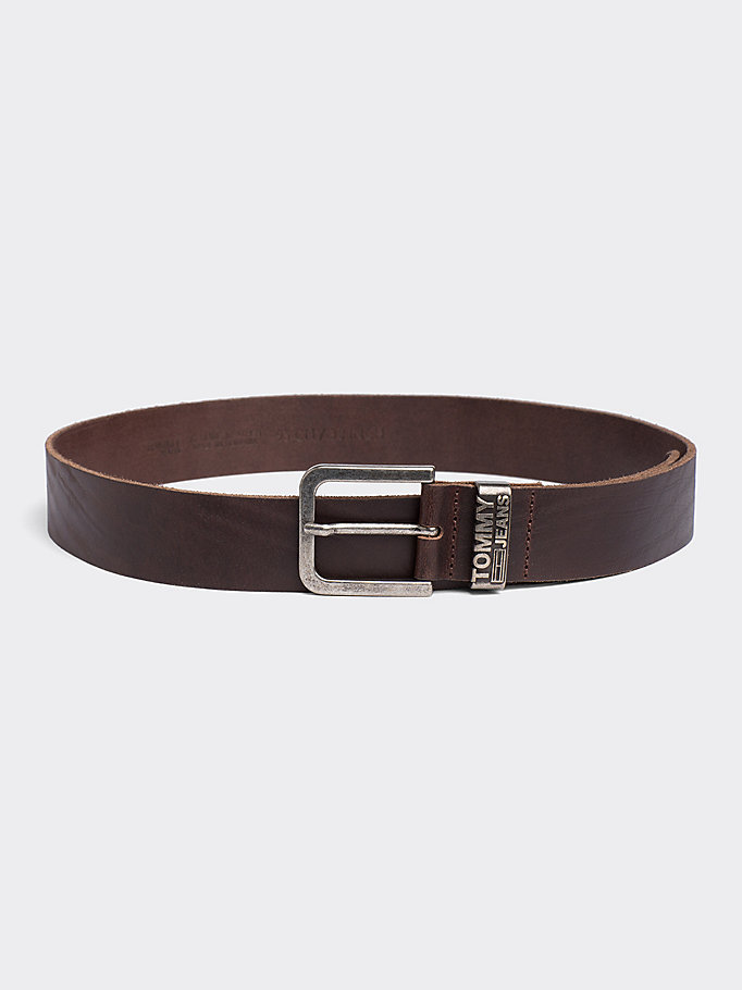 TOMMY JEANS TJM LOOP BELT 4.0 - DARK TAN - TOMMY JEANS Mężczyźni - main image