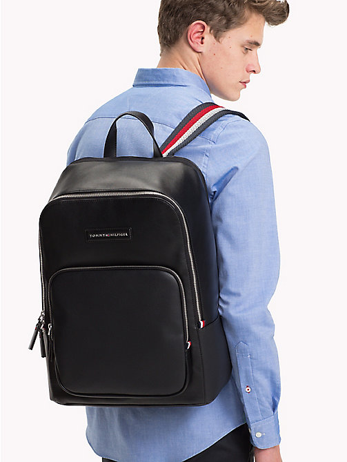 TOMMY HILFIGER Contrast Texture Backpack - BLACK - TOMMY HILFIGER Backpacks - detail image 1