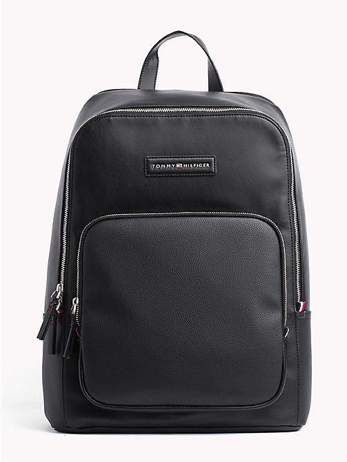 TOMMY HILFIGER Contrast Texture Backpack - BLACK - TOMMY HILFIGER NEW IN - main image