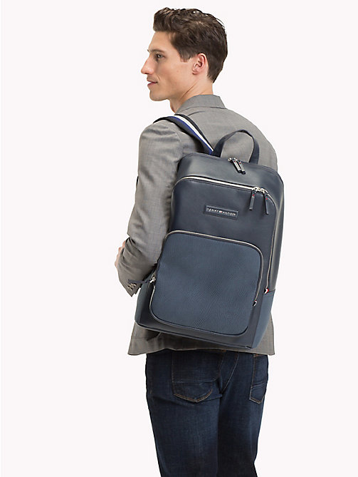 TOMMY HILFIGER Contrast Texture Backpack - AIRFORCE BLUE - TOMMY HILFIGER Bags & Accessories - detail image 1