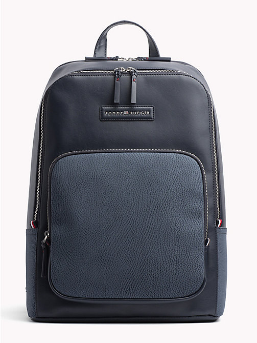 TOMMY HILFIGER Contrast Texture Backpack - AIRFORCE BLUE - TOMMY HILFIGER NEW IN - main image