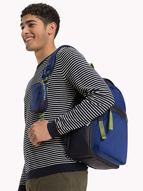 TOMMY HILFIGER Explorer Signature Tape Detail Backpack - TOMMY NAVY - TOMMY HILFIGER Bags & Accessories - detail image 1