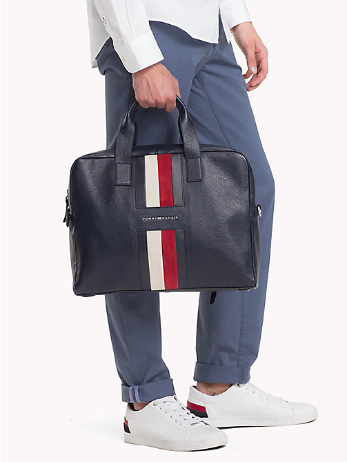 TOMMY HILFIGER Heritage Leather Computer Bag - TOMMY NAVY - TOMMY HILFIGER NEW IN - detail image 1