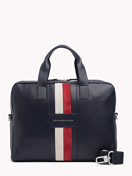 TOMMY HILFIGER Heritage Leather Computer Bag - TOMMY NAVY - TOMMY HILFIGER NEW IN - main image