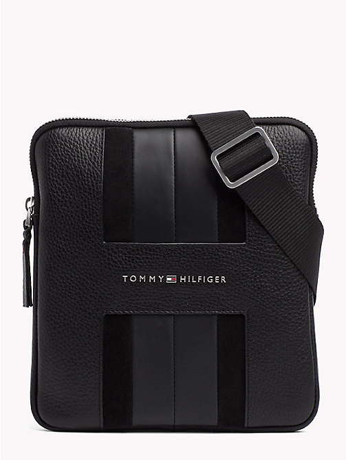 TOMMY HILFIGER Heritage Leather Mini Cross-Body Bag - BLACK - TOMMY HILFIGER NEW IN - main image