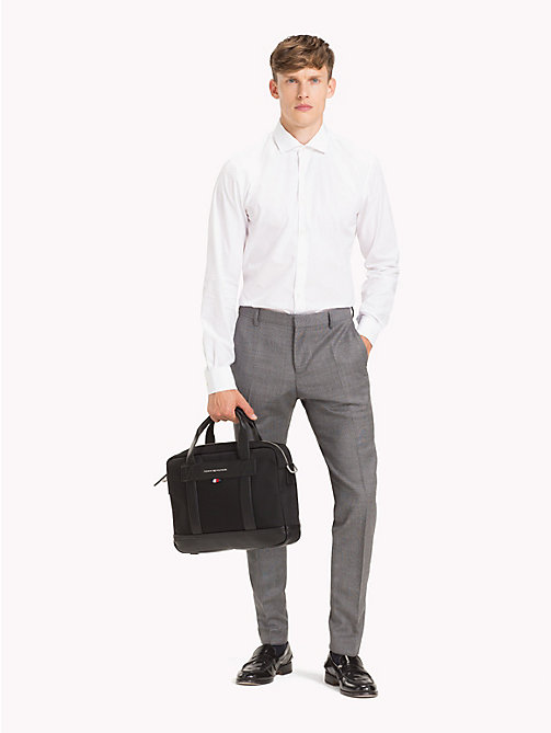 TOMMY HILFIGER Sac pour ordinateur en nylon Tailored - BLACK - TOMMY HILFIGER Looks de bureau - image détaillée 1