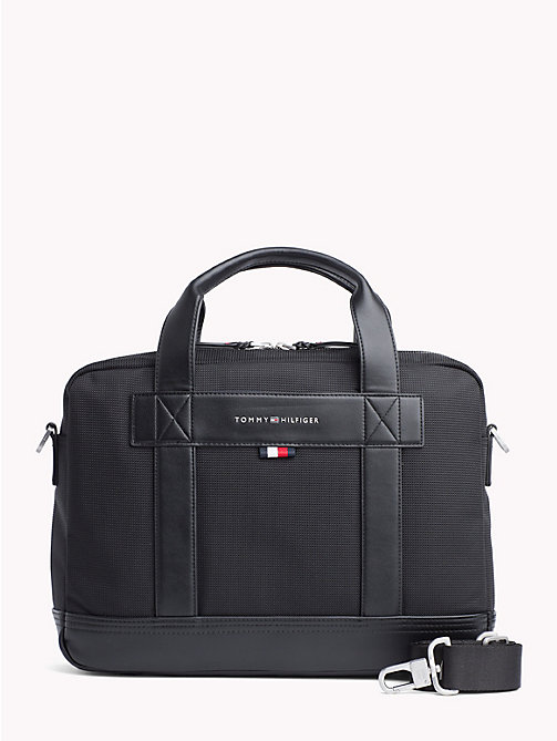 TOMMY HILFIGER Tailored Nylon Computer Bag - BLACK - TOMMY HILFIGER Laptop Bags - main image