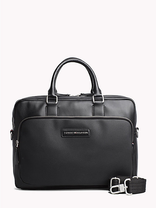 TOMMY HILFIGER Corporate Executive Laptop Bag - BLACK - TOMMY HILFIGER NEW IN - main image