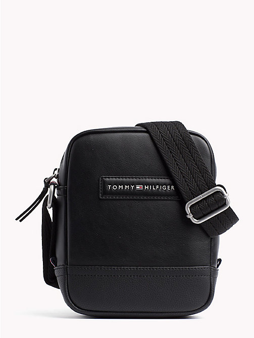 TOMMY HILFIGER Stripe Strap Cross Over Bag - BLACK - TOMMY HILFIGER Crossbody Bags - main image