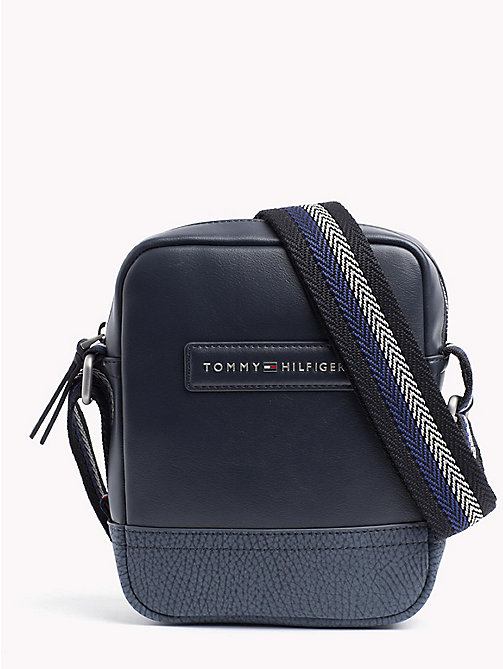TOMMY HILFIGER Stripe Strap Cross Over Bag - AIRFORCE BLUE - TOMMY HILFIGER Crossbody Bags - main image