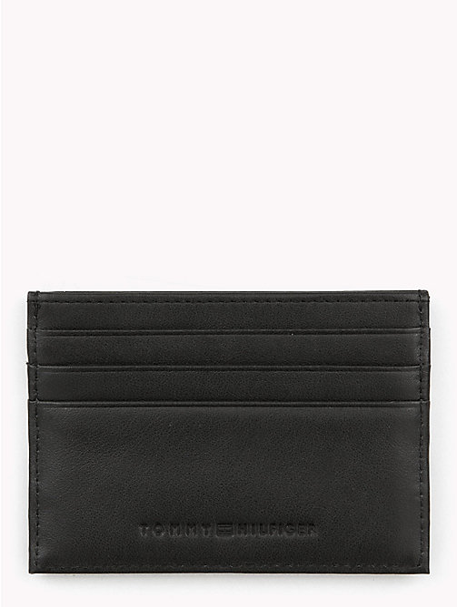 TOMMY HILFIGER Signature Stripe Card Holder - BLACK - TOMMY HILFIGER NEW IN - detail image 1