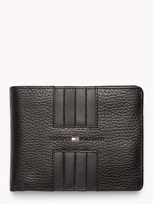 TOMMY HILFIGER Heritage Panelled Leather Wallet - BLACK - TOMMY HILFIGER NEW IN - main image