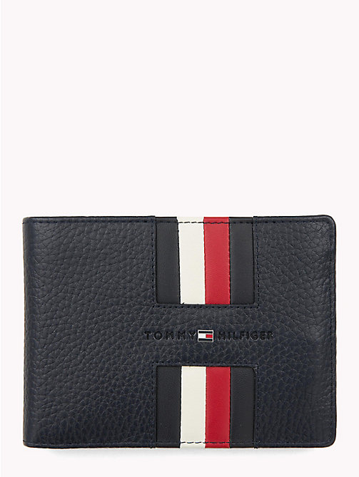 TOMMY HILFIGER Heritage Panelled Leather Wallet - TOMMY NAVY - TOMMY HILFIGER NEW IN - main image