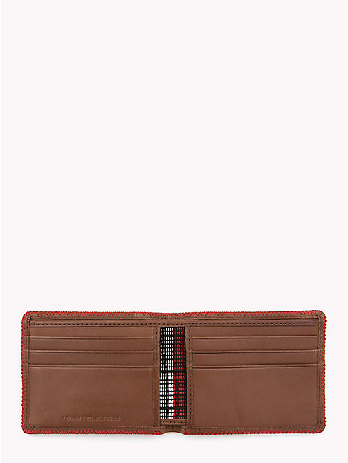 TOMMY HILFIGER Edge Stitch Mini Coin and Card Holder - BROWN - TOMMY HILFIGER Bags & Accessories - detail image 1