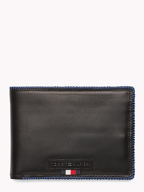TOMMY HILFIGER Edge Stitch Coin and Card Holder - BLACK - TOMMY HILFIGER NEW IN - main image